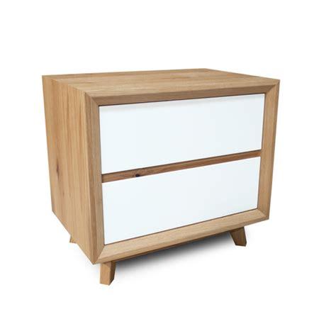 White Oak Bedside Table Felix Scandinavian White Gloss W Oak Bedside Table