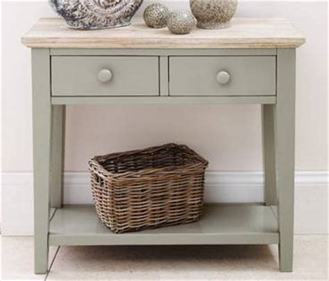 Statement furniture florence sage green matt painted amp washed acacia wood top cabinets