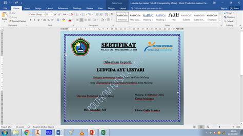 membuat watermark sertifikat mahasiswa belajar langkah langkah membuat sertifikat