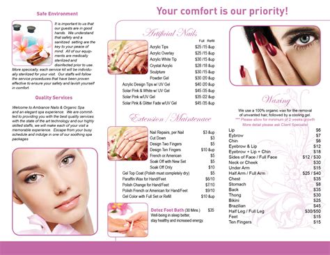 Salon Brochure | hair nail spa printing