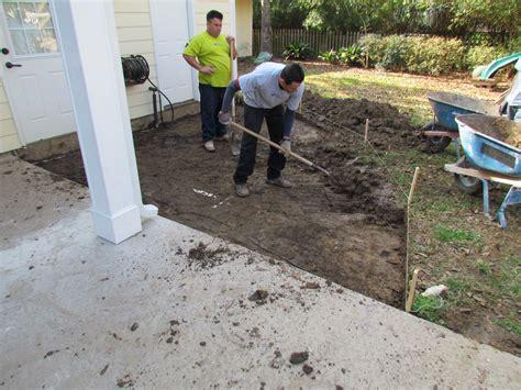 backyard excavation follow a backyard transformation construction outdoor