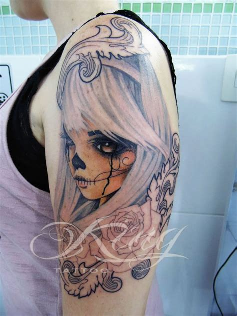 neo tattoo neo traditional catrina calavera new school