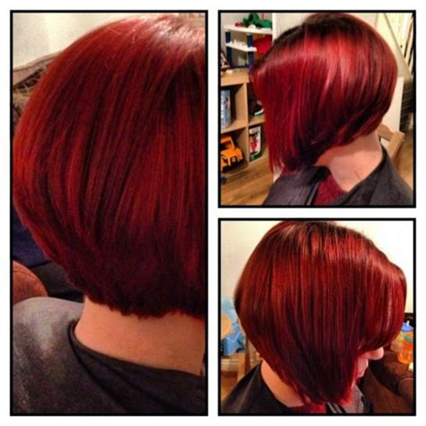 bob hairstyles in zambia red graduated bob bangstyle