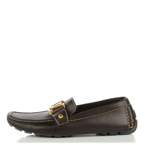 louis vuitton brown loafers louis vuitton leather monte carlo loafers 6 cacao brown 125312