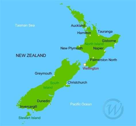 map new zealand map of new zealand