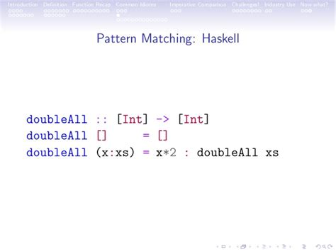 pattern matching list haskell an introduction to functional programming at the jozi java