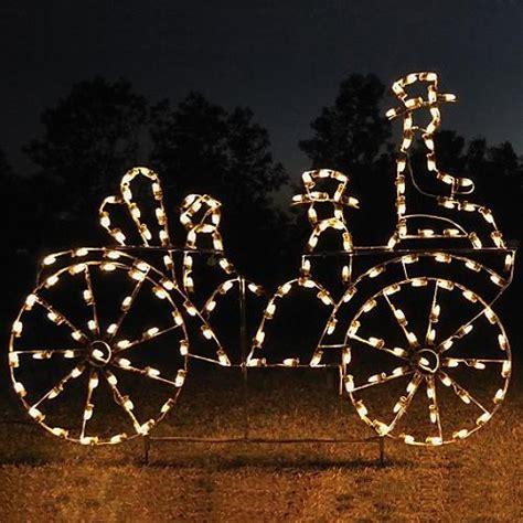 led animated victorian carriage christmas lights