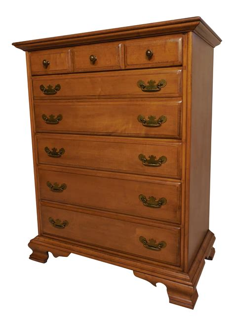 Maple Dresser by Conant Chippendale Style Maple Dresser Chairish