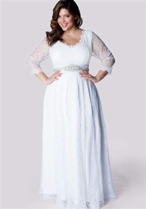 Plus size long chiffon dresses   PlusLook.eu Collection