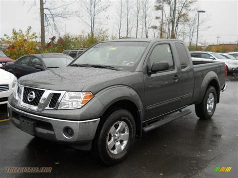 gray nissan truck 2009 nissan frontier se king cab 4x4 in storm gray