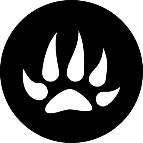 Wolfe Background Check Wolf Footprint On Black Circular Background Icons Free