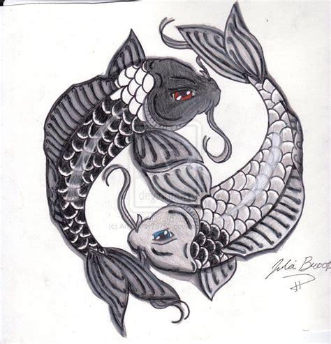 yin yang koi tattoo designs fish design yin and yang koi fish by angelkitty78750