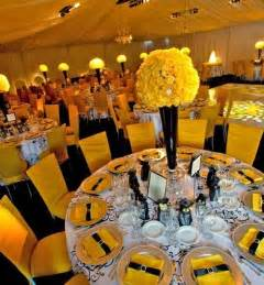 yellow wedding decorations best wedding ideas ideas for yellow wedding centerpieces