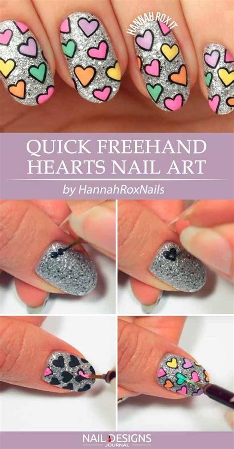 Freehand Nail Tutorials