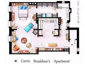 carrie bradshaw apartment floor plan do you recognize these famous floor plans the frisky