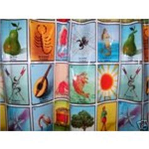 Loteria Mexican Bingo Vinyl Shower Curtain 03 23 2008