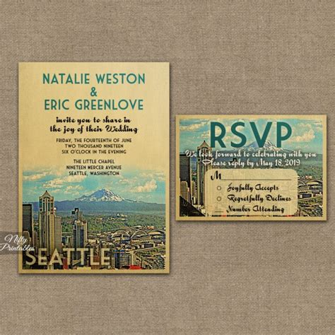 seattle skyline wedding invitations vtw nifty printables