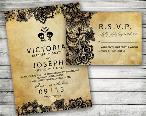 printable halloween wedding invitations printable halloween wedding invitation rustic black lace