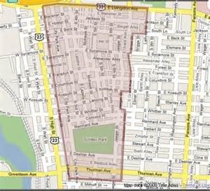 Map Of Downtown Columbus Ohio by Columbus Ohio Geman Village Map Movedowntowncolumbus Com