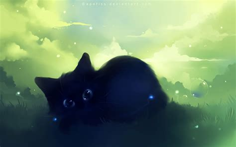 cat wallpaper deviantart apofiss animals images black kitty 3 hd wallpaper and