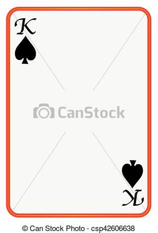 Card Blank Template King Of Diamonds by Blank Card King Spades A Blank King Of Spades