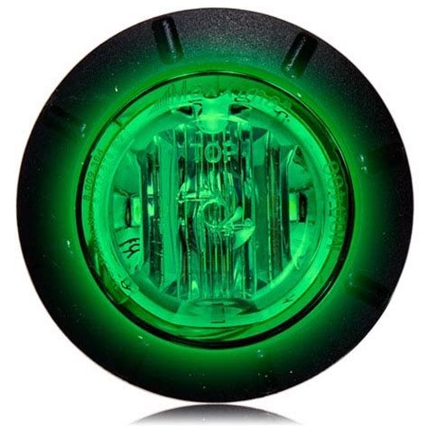 m09400g 1 1 4 quot green led mini courtesy marker light