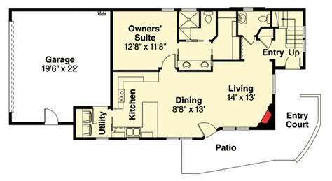 townhouse floor plans with garage townhouse plan with rear garage 72732da architectural
