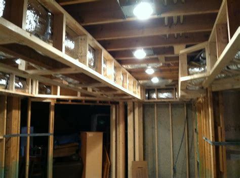How To Frame A Tray Ceiling tray ceiling framing basement projects