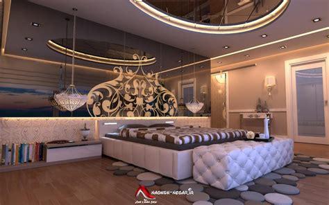fancy bedroom wallpaper ۴۵ عکس نورپردازی و نورمخفی طراحی داخلی و دکوراسیون دور