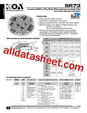 koa resistor datasheet koa resistor part number 28 images sr732ettd1r00 datasheet pdf koa speer electronics inc wf