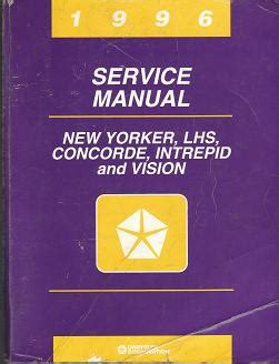 online auto repair manual 1996 chrysler new yorker instrument cluster 1996 chrysler new yorker chrysler lhs chrysler concorde dodge intrepid eagle vision