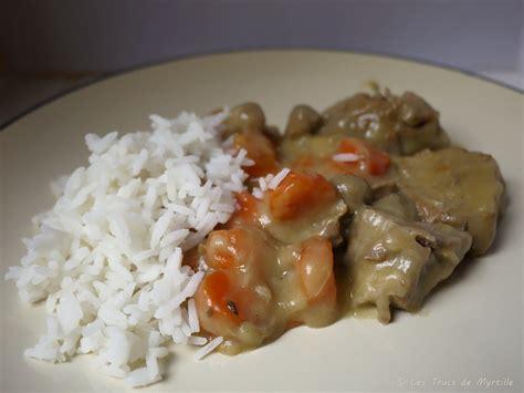 cuisiner blanquette de veau la cuisine de myrtille blanquette de veau aux carottes et