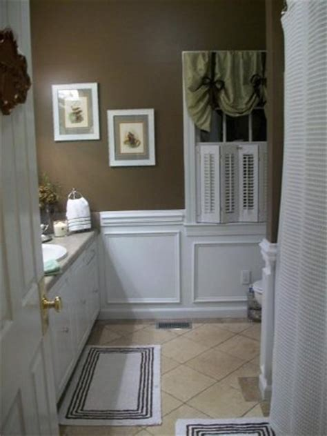 Brown Wainscoting by A Stroll Thru Show And Inspire The Everyday Home