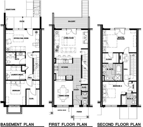 townhouse plans house style pictures