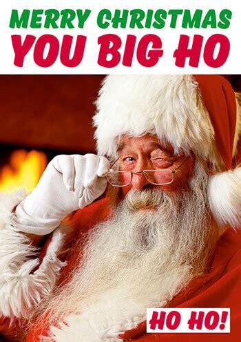 merry christmas  big ho funny christmas card dmx   rude cards gifts keyrings