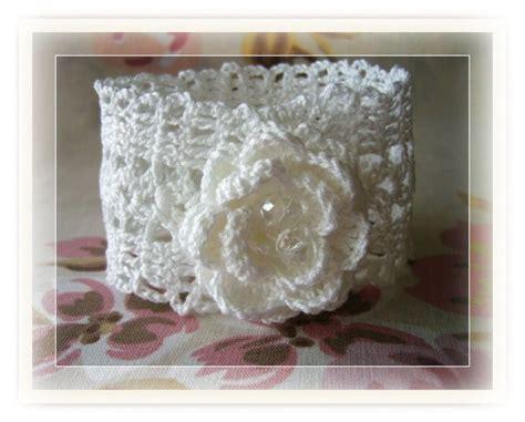 Handmade Crochet - crochet bracelet crochet lace bracelet crochet cuff