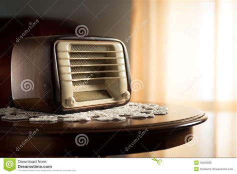 living room radio vintage radio in the living room stock photo image 48205695