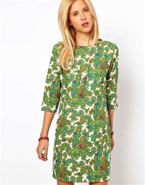 paisley print dress 11070 asos asos shift dress in paisley print