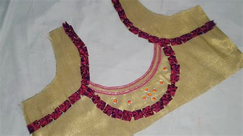 Cutting Of Saree Blouse Stitching by Saree Blouse Designs Cutting And Stitching At Home Diy