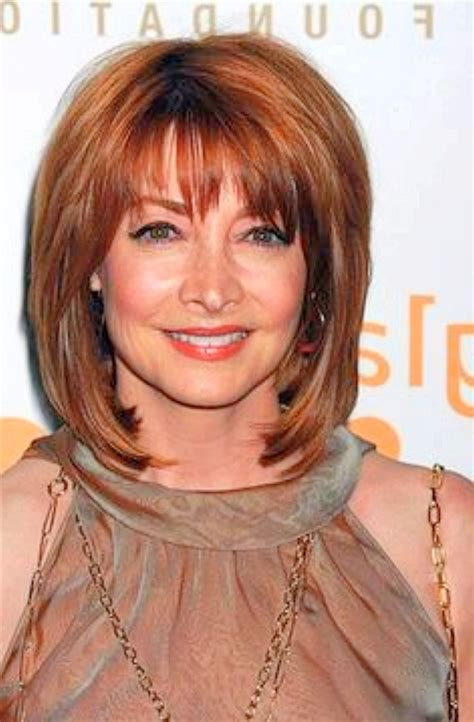 hairstyles with bangs for women over 60 medium length hairstyles for women over 60 elle hairstyles