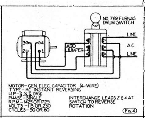 120v single phase reversible ac motor wiring diagram