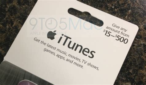 How To Set Up Itunes Gift Card On Ipod - apple rolling out new itunes gift cards with flexible load amounts from 15 500 mac