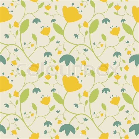 blue yellow pattern seamless floral pattern with yellow and blue flowers