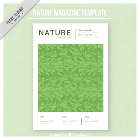 nature magazine cover template vector free download
