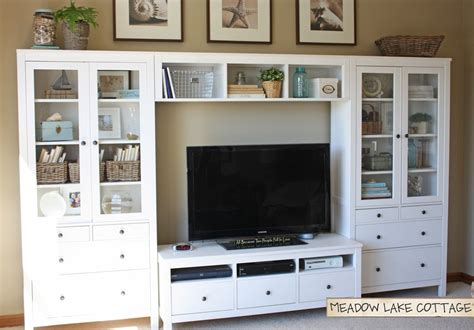 using ikea kitchen cabinets for entertainment center accessorized white entertainment center hemnes tv