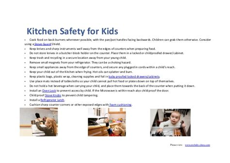 Kitchen Safety For Students by Ways To Show How To Makeyour Kitchen Safe Enough For