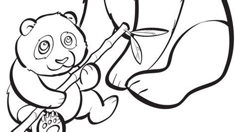 panda family coloring page baby animals series baby panda grandparents com