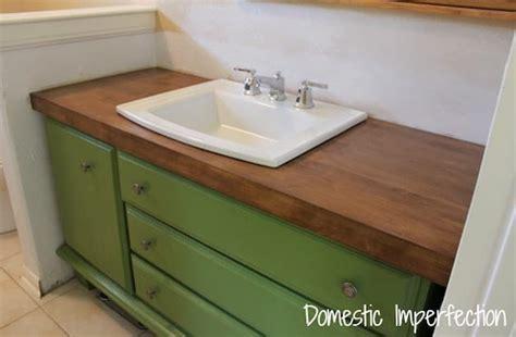 diy wood vanity countertop 7 chic diy bathroom vanity ideas for diy projects