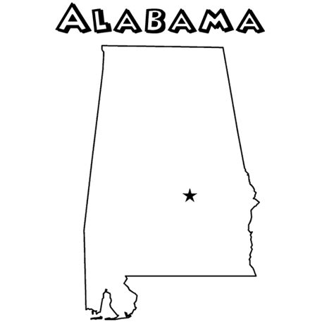 alabama state colors state coloring page al homeschool