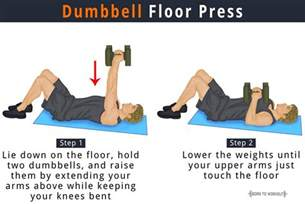 dumbbell floor press benefits how to do pictures